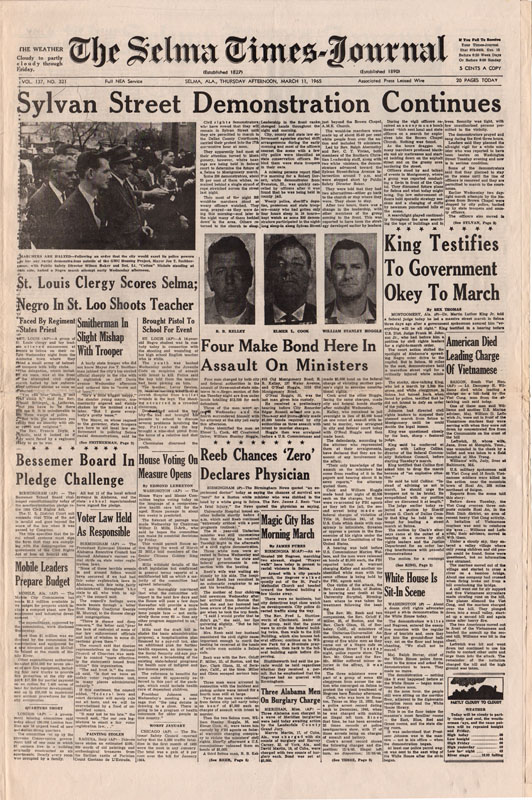 Selma Times, March 11, 1965, Cover Pg copy